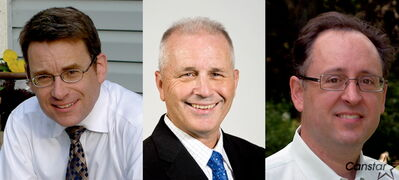 From left: Brian Mayes, Greg Nordman, and Mike Ducharme have all said they will run in the St. Vital byelection.