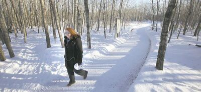 Evelyn Lundeen on her favourite trail.