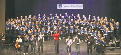 IAN IRVINE PHOTOThe Spirit Call Choir has 160 members, some who�ve never had a voice lesson. Choir member Margaret Tobin (left) says if you can talk, you can sing.