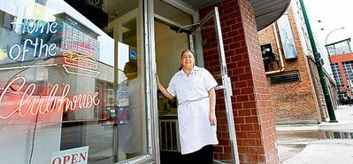 Fran Gomez at her Wagon Wheel Restaurant on Hargrave Street. The eatery will stay open until July.