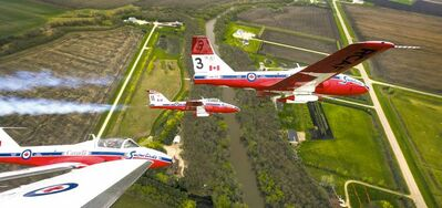 Photos by Melissa Tait / Winnipeg Free Press The Canadian Forces Snowbirds fly in formation under low cloud cover north of Winnipeg Saturday, in pictures taken from a thrilling perch in a cockpit.