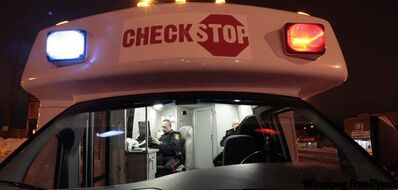 The Check Stop Van was out last week testing drivers.