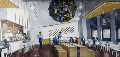 The artist's conception of the restaurant, designed by Number Ten Architectural Group, at the Canadian Museum for Human Rights which will be run by the Inn at the Forks.