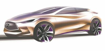 Infiniti recently released this teaser sketch of its much-anticipated Q30 compact luxury sedan, which will be unveiled at the Frankfurt Motor Show.