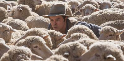 "Seth MacFarlane in a scene from ""A Million Ways to Die in the West."""