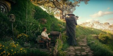 From left: Martin Freeman as Bilbo Baggins and Ian McKellen as Gandalf in The Hobbit: An Unexpected Journey.