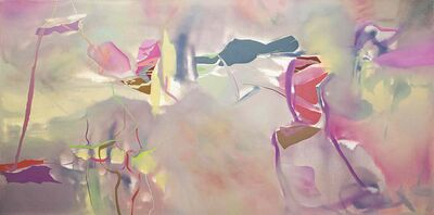 Slippery sheets, slippery slope, 2014, oil on canvas, 122 x 61 cm.