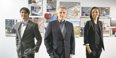 Peter J. Thompson/National PostTom Hitchman, centre, president of Naylor, is shifting responsibilities to his son Greg and daugher Lauren.