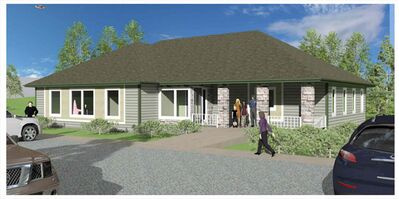 Board members hope the Country Kids Learning Centre's new building, shown in this architect's rendering, will open in 2015.