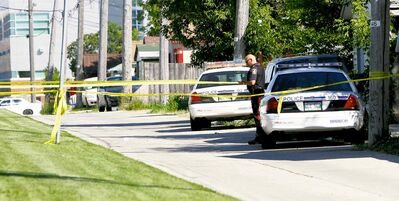 Winnipeg police cordon off the scene of the fatal Tasering incident in July 2008.