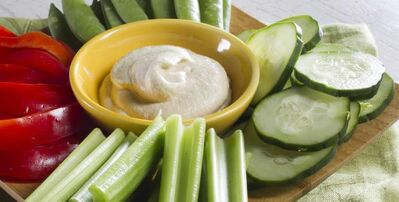 'Practically Raw' by Amber Shea Crawley features raw recipes for anyone, including this zucchini hummus.