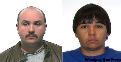 Police believe Kevin Maryk (left) was helped by his nephew, Cody McKay (right). Warrants had been issued for both men.