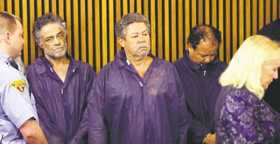 Accused Cleveland kidnapper and rapist Ariel Castro (right) with brothers Onil Castro (left) and Pedro Castro.
