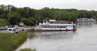 The Paddlewheel Princess (foreground) is seen at the Redwood docks in a file photo.