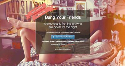 The Bang Your Friends app pulls no punches about its intent.