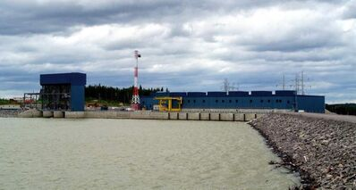 The  Wuskwatim Generating Station is shown on July 5.
