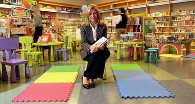 Heather Reisman in the children's section of one of her Chapters stores.