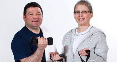 Paul Cantafio and Annette Albo say exercise is helping them to recover from their health issues.