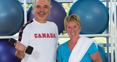 Gord Laschuk and JoAnn Shields are regular visitors to the Wellness Institute at Seven Oaks Hospital.