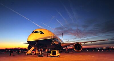 In this Jan. 27, 2012 photo, Boeing's newest aircraft, the Boeing 787, sits on the tarmac at Huntsville International Airport in Huntsville, Ala. THE CANADIAN PRESS/AP, The Huntsville Times, Eric Schultz