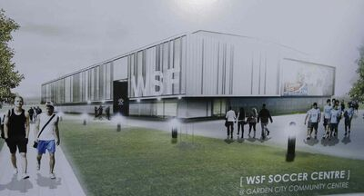 Artist's drawing of new soccer facility.