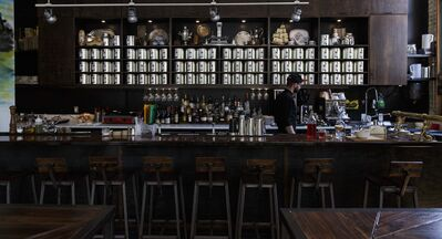 MIKE DEAL / WINNIPEG FREE PRESS</p><p>Chef Alex McMullen behind the bar at the Amsterdam Tea Room and Bar.</p>