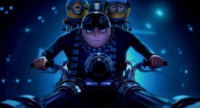 Steve Carrell voices the evil genius Gru.