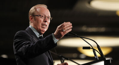 Mayor Sam Katz delivers his annual state of the city address Friday at the convention centre.