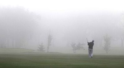 It was a foggy start for the golf game Tuesday morning at the Kildonan Park Golf Course.