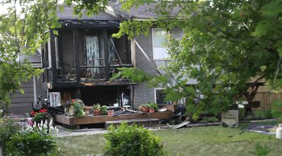 An overnight fire at a house on the 100 block of Alburg Drive caused an estimated $200,000 in damages to the deck and rear of this home
