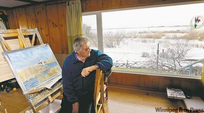 When artist Peter Ward looks out the window these days, he doesn't see quite the same beauty he once did.