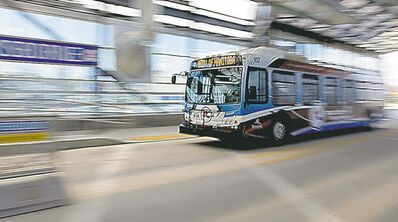 The new rapid transit route.