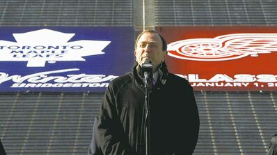 Paul Sancya / The Associated Press ArchivesNHL commissioner Gary Bettman announces the NHL Winter Classic between Toronto and Detroit at Michigan Stadium last February amid much fanfare. Now, the league�s signature event is in danger of being scrapped due to the lockout.