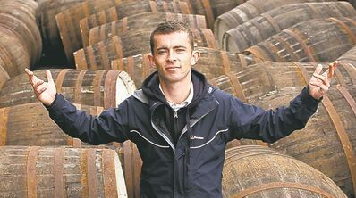 Former hoodlum Robbie (Paul Brannigan) discovers he has a nose for whisky  in Scottish film The Angels' Share.