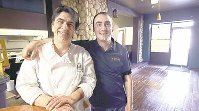 In Ferno's is opening a second location on Academy Road, co-owned by father Fern Kirouac (left) and his son Chris.
