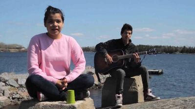 Berens River School's students are the stars of a music video posted on YouTube.