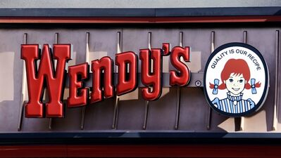 This Jan. 29, 2012 photo, shows a Wendy's sign at a restaurant in Culver City, Calif., Jan. 29, 2012. THE CANADIAN PRESS/AP, Reed Saxon