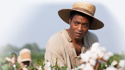 In the fact-based film 12 Years a Slave, Brad Pitt plays Samuel Bass, a Canadian man who helped Solomon Northup (played by Chiwetel Ejiofor, pictured) regain his freedom.