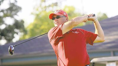 WAYNE GLOWACKI/WINNIPEG FREE PRESSThree-time champion Garth Collings finds himself three strokes off the pace at the Manitoba men�s amateur at Glendale Golf and Country Club.