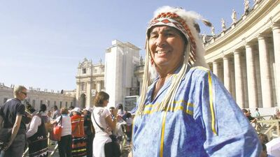 For me, however, the example set by Chief Littlechild (above) and countless other residential school survivors in Rome this week is a miracle of at least equal significance: that people treated so poorly by the church as children grew up to not only forgive but embrace it. — Wab Kinew
