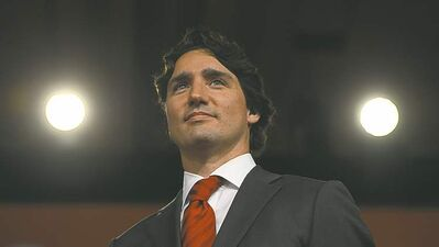 Liberal Leader Justin Trudeau speaks at the Liberal leadership announcement Sunday in Ottawa.