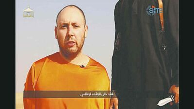 submitted photo / the associated pressVideo purports to show journalist  Steven Sotloff before he was beheaded.