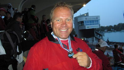 Greg Laxdal came home from the Dragon Boat World Championships with two gold medals and one bronze.