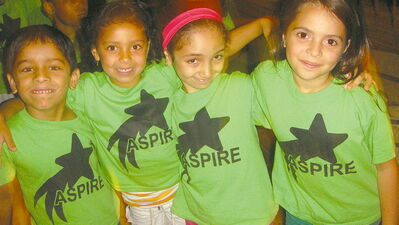 Participants in LRSD's ASPIRE program (from left): Satbinder Gondal, Layla McCurdy, Ranin Asker and Shams Alshamary.