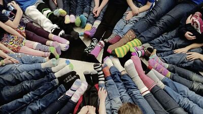 On March 21, Immanuel Christian School celebrated World Down Syndrome Day by wearing different coloured socks, while de Witt delivered a presentation to the school on what having Down Syndrome means.