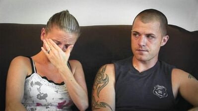 Kori Cioca, with her husband, Rob McDonald. Her jaw was broken during the course of a sexual assault. The officer was never charged. Her struggle to get redress from the Veterans' Administration is one of the stories documented in The Invisible War.