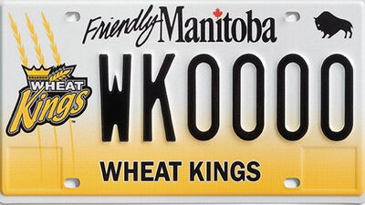 The Brandon Wheat Kings have a specialty licence plate all their own.