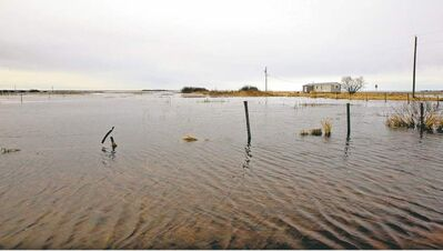 The flooded-out community of Lake St. Martin last May. A solution to the ongoing problem is at least a year away, the First Nation's lawyer says.