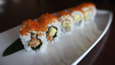 Edward Lam describes his cuisine as traditional, although the inside-out soft-shell shrimp roll is American-inspired.