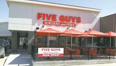 Photo by Michelle Constant Five Guys Burgers and Fries on Regent Avenue. Up to seven outlets could eventually be operating in the city.